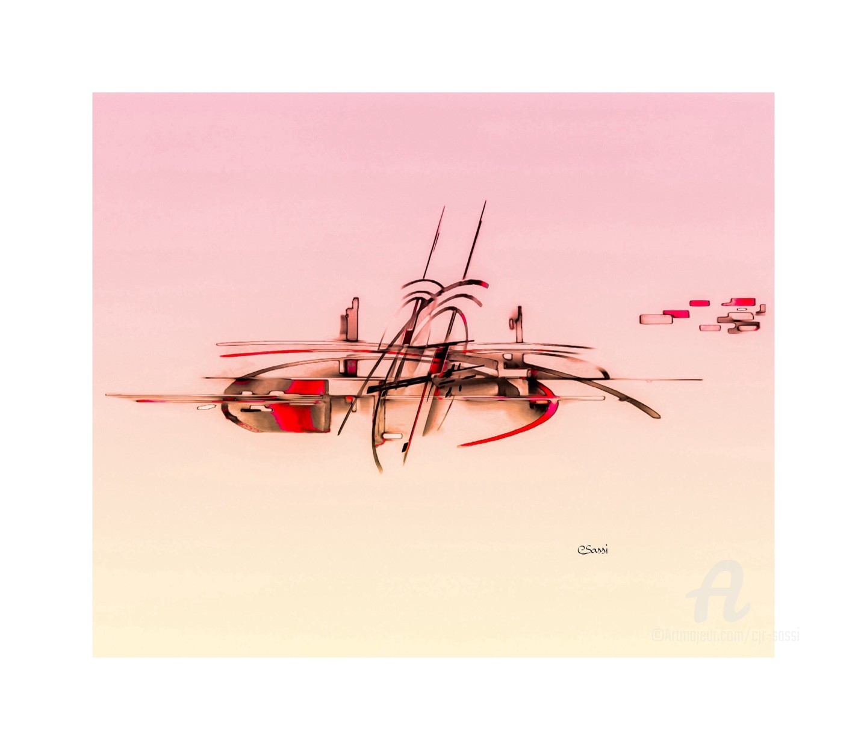 Corinne Sassi (Cjr sassi) - Abstrait en espace 50