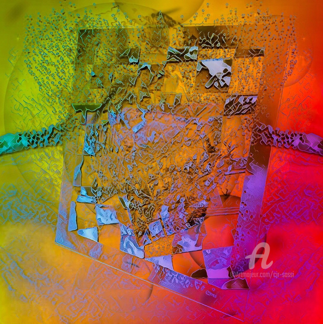 Corinne Sassi (Cjr sassi) - Abstrait en espace 200